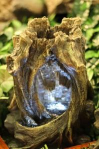 Zimmerbrunnen Moyu | Zierbrunnen Polystone Wasserfall inkl. Pumpe und LED Beleuchtung
