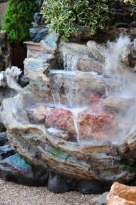 Zierbrunnen Pingshang   Polystone Wasserfall Bachlauf inkl. Pumpe und LED Beleuchtung - AUSSTELLUNGSSTÜCK!