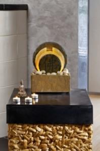 Zimmerbrunnen Tian | Wasserwand Schiefer Quarz Brunnen