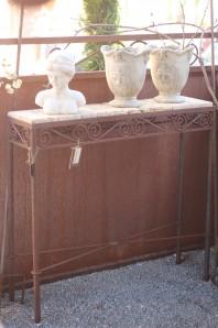 Vintage Tisch Eisen Edelrost 80x20x77 | Shabby, Landhaus & Cottage