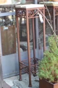 Vintage Eisentisch Edelrost 20x20x77 | Shabby, Landhaus & Cottage