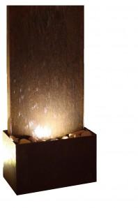 Zimmerbrunnen Cordon 60 | Brunnen Wasserwand aus Cortenstahl