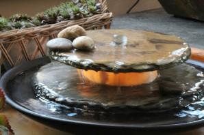 Zimmerbrunnen Minello | Feng Shui Schieferbrunnen inkl. Beleuchtung