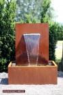 Wasserspiel Cortenstahl Wasserfall 30 im Edelrost Design inkl. Pumpe