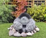 Wasserspiel SET Halbkugel Lotus 40 Granit Gartenbrunnen inkl. drehende Glaskugel