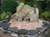 Wasserspiel kpl. SET: Naturstein Quellstein Marmor Ozeanfindling inkl. Pumpe Becken | Gartenbrunnen Zierbrunnen