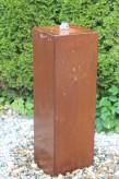 Wasserspiel kpl. SET: Cortenstahl Säule 100 Edelrost Wasserwand inkl. Pumpe Becken | Zierbrunnen