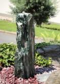 Wasserspiel SET Quellstein Marmor Artik green 116 cm Gartenbrunnen Springbrunnen
