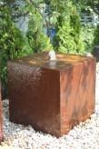 Wasserspiel SET: Cortenstahl Würfel 50 Gartenbrunnen Edelrost Design