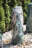 Wasserspiel SET: Quellstein Marmor artik green 85 inkl. Pumpe Becken | Springbrunnen