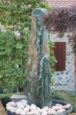 Wasserspiel SET: Quellstein Marmor Artik green 180 inkl. Pumpe Becken Springbrunnen