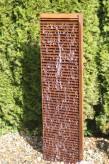 Wasserspiel SET Cortenstahl Lamelle 150 Regeneffekt Gartenbrunnen Edelrost Design