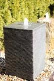 Wasserspiel SET Granit Säule 80 Springbrunnen inkl. Pumpe Becken