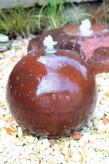 Wasserspiel SET: Cortenstahl Kugel 50 inkl. Zubehör Springbrunnen Edelrost Design