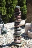 Wasserspiel SET Flusskiesel Säule 75 inkl. Pumpe Becken | Springbrunnen