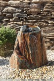 Wasserspiel SET Quellstein Ozean Findling mit Bronze Vogel | Gartenbrunnen Springbrunnen