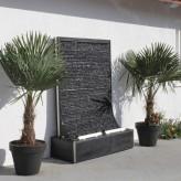 Zimmerbrunnen Gigant Wasserwand Cesar Fine Black 188 Schiefer Brunnen