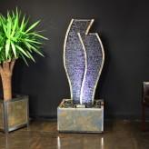 Wasserwand Tulip 150 LEX | Feng Shui Schiefer Brunnen inkl. Beleuchtung