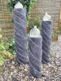 Wasserspiel SET Quellstein Säulen Taifun 70/90/110cm Granit Gartenbrunnen Springbrunnen