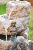 Wasserspiel kpl.SET: Quellstein Granit Bachlauf 4tlg. inkl. Pumpe | Becken Zierbrunnen