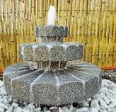 Wasserspiel SET: Quellstein Brunnen Zichi Granit anthr. inkl. Pumpe Becken Springbrunnen