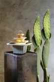Zimmerbrunnen Mandala | Feng Shui Schieferbrunnen inkl. dreh. Kugel und LED