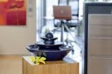 AUSSTELLUNGSSTÜCK! Zimmerbrunnen Pisa blau | Feng Shui Keramikbrunnen