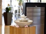 AUSSTELLUNGSSTÜCK! Zimmerbrunnen Pisa creme weiß | Feng Shui Keramikbrunnen
