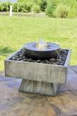 Springbrunnen Herra Kaskaden Brunnen | Polystone Wasserspiel inkl. Pumpe und LED