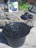 PE Becken mit GFK Deckel Ø45x30 | Pumpe Messner System M 800