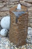 Wasserspiel kpl. SET: Quellstein Basalt inkl. Pumpe Becken | Gartenbrunnen Zierbrunnen