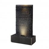 Zimmerbrunnen Lamelle Black Large 170 | Feng Shui Brunnen Wasserwand inkl. LED