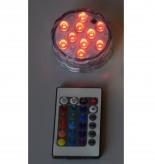 10 LED Unterwasser Beleuchtung Farbwechsel RGB mit Batteriebetrieb inkl. Fernbedienung
