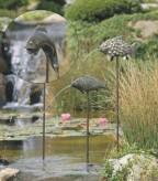 Timpe Te der Fisch Teichfigur als Wasserspiel Bronze Skulptur Rottenecker
