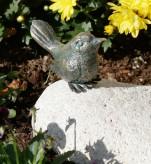 Vogel sitzend 6cm Gartenfigur Bronze Skulptur Rottenecker