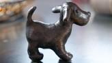 Bronzefigur Hund Maddie 5cm Bronze Skulptur Rottenecker
