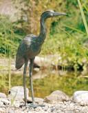 Bronzefigur Graureiher Fischreiher Gartenfigur Bronze Skulptur Rottenecker
