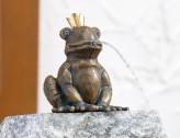 Froschkönig Otto 11cm Gartenfigur als Wasserspiel Bronze Skulptur Rottenecker