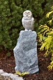 Bronzefigur Baby Schnee-Eule | Dekoration aus Bronze für Heim und Garten