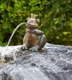Froschkönig Albert Wasserspeier 11cm als Wasserspiel Bronze Skulptur Rottenecker