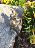 Froschkönig Heiner 13cm Bronze Wasserspeier Rottenecker für Garten Teich Bachlauf