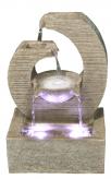 AUSSTELLUNGSSTÜCK! Zimmerbrunnen Design Key 36 Polystone Brunnen inkl. Pumpe und LED