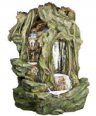 Zierbrunnen Jalony Gigant | Polystone Wasserfall inkl. Pumpe und LED Beleuchtung