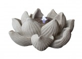 Zimmerbrunnen Lotusblüte | Polystone Brunnen inkl. Pumpe und LED Beleuchtung