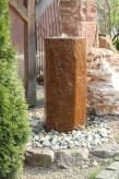 Wasserspiel kpl. SET: Quellstein Basalt Säule 100cm inkl. Pumpe | Becken Zierbrunnen