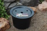 PE Becken mit GFK Deckel Ø 45 cm 30 Liter | für Quellsteine, Wasserspiele und Zierbrunnen