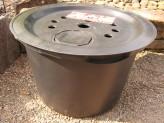 PE Becken mit GFK Deckel Ø 55 cm 45 Liter | für Quellsteine, Wasserspiele und Zierbrunnen