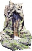 Zierbrunnen Huxy | Polystone Wasserfall inkl. Pumpe und LED Beleuchtung