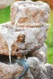 Gartenfigur Teichfigur Meerjungfrau Nixe aus Bronze | Dekoration für Heim und Garten