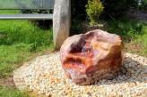 Wasserspiel SET Quellstein Onyx Marmor L100cm Gartenbrunnen inkl. Pumpe Becken